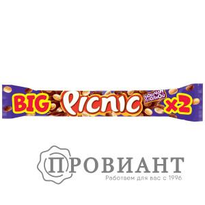 Батончик шоколадный Picnic BIG молочный арахис-изюм 76г