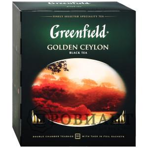 Чай Greenfield Golden Ceylon чёрный крупнолистовой 100п
