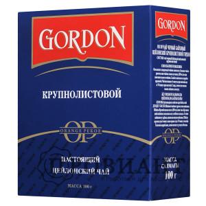 Чай Gordon чёрный крупнолистовый 100г