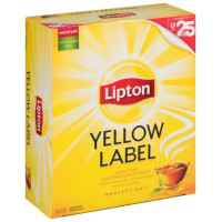 Чай Lipton Yellow Label чёрный байховый 100п