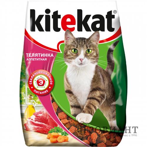 Корм для кошек сухой Kitekat аппетитная телятина 350г