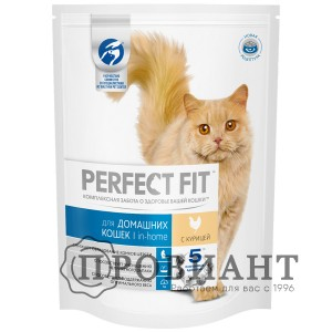 Корм Perfect Fit In-Home для домашних кошек с курицей 190г