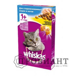 Корм Whiskas для стерилизованных кошек подушечки с курицей 350г