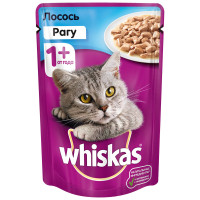 Корм для кошек Whiskas рагу с лососем 85г