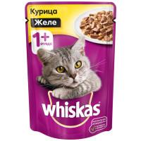 Корм для кошек Whiskas желе с курицей 85г