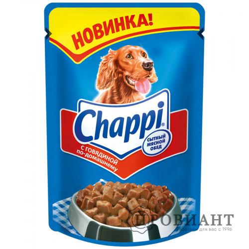 Корм для собак Chappi с говядиной по-домашнему 100г