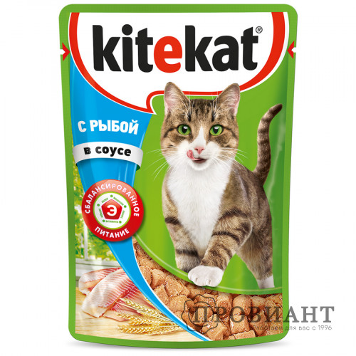 Корм для кошек Kitekat рыба в соусе 85г