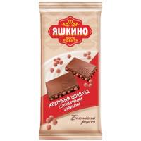 Шоколад Яшкино молочный с бисквитными шариками 90г
