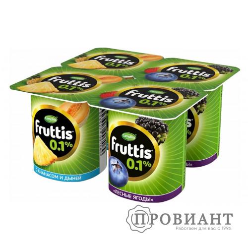 Йогурт Fruttis ананс-дыня / лесные ягоды 110г