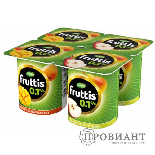 Йогурт Fruttis яблоко-груша / абрикос-манго 110г