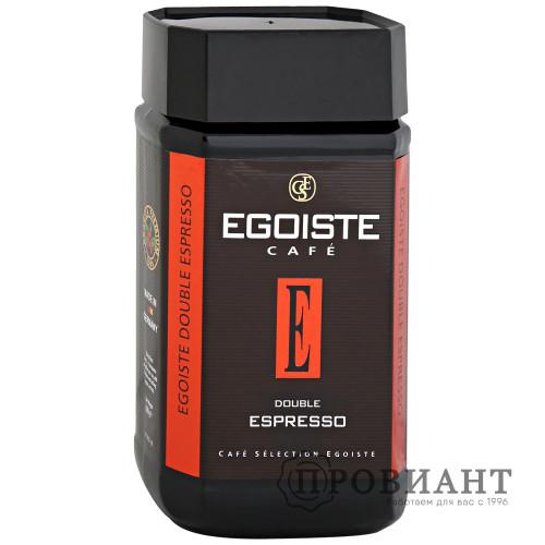 Кофе Egoiste Double Espresso растворимый 100г ст.б.