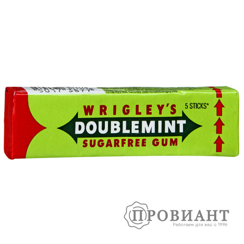 Жевательная резинка Doublemint двойная мята 13,0 г