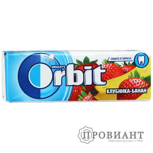 Жевательная резинка Orbit клубника - банан 13,6г
