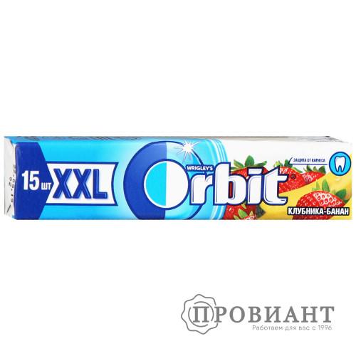 Жевательная резинка Orbit XXL клубника-банан 20,4г