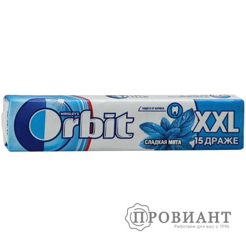 Жевательная резинка Orbit XXL сладкая мята 20,4г