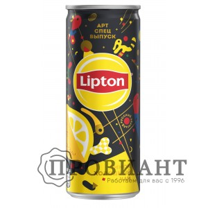 Холодный чай Lipton лимон ж/б 0,25л