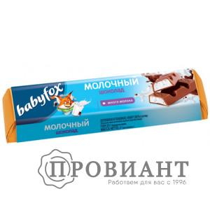 Батончик шоколадный Babyfox молочный 47г