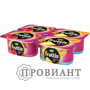 Йогурт Fruttis ананас-дыня / малина 115г