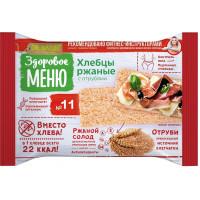 Хлебцы Здоровое меню пшенично-ржаные 90г