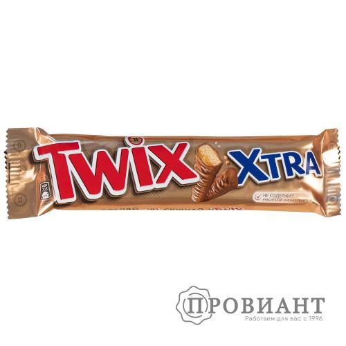 Батончик шоколадный Twix XTRA молочный с карамелью 82г