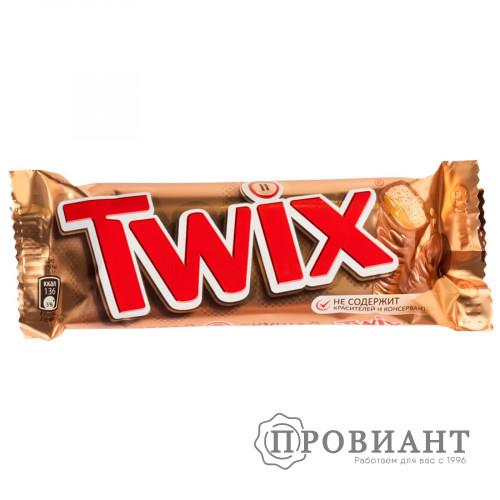 Батончик шоколадный Twix молочный с карамелью 55г