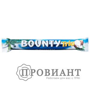 Батончик шоколадный Bounty Trio молочный с мякотью кокоса  82г