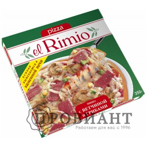 Пицца Rimio с ветчиной и грибами 350г