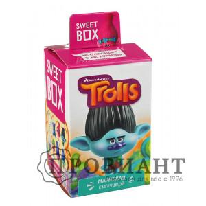 Жевательный мармелад Sweet Box Тролли с игрушкой
