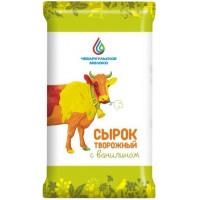 Сырок творожный Чебаркульское молоко с ванилином 15% 100г БЗМЖ