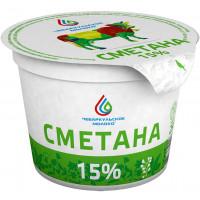 Сметана Чебаркульское молоко 15% 250г БЗМЖ