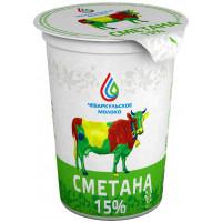 Сметана Чебаркульское молоко 15% 500г БЗМЖ
