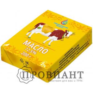 Масло сливочное Чебаркульское молоко 72,5% 200г