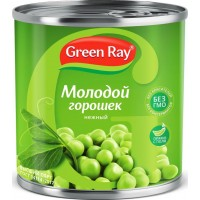 Горошек зеленый Green Ray 425г