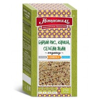 Националь гарнир бурый рис, киноа, семена льна 250г