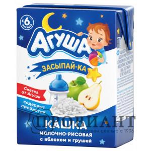 Агуша Засыпай-ка молочно-рисовая груша, яблоко 200мл
