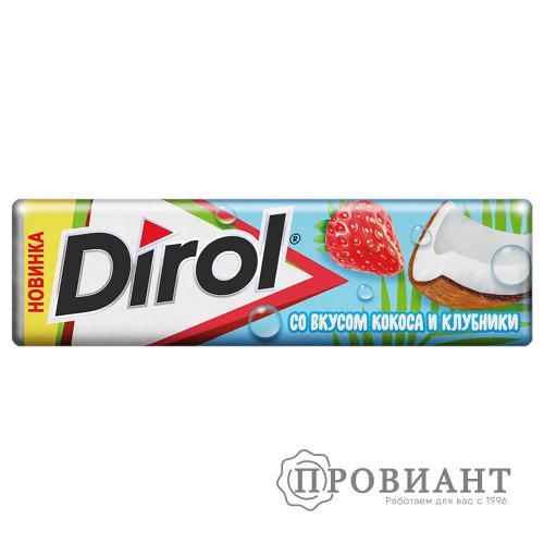 Жевательная резинка Dirol кокос-клубника 13,6г