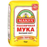 Мука Makfa пшеничная высший сорт 1кг