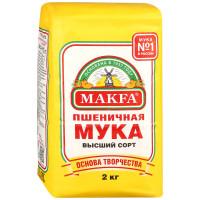 Мука Makfa пшеничная высший сорт 2кг