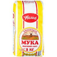 Мука Увелка пшеничная хлебопекарная 2кг