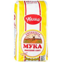 Мука Увелка пшеничная хлебопекарная 1кг
