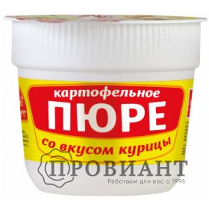 Пюре быстрого приготовления Русский аппетит в стаканчике со вкусом курицы 37г