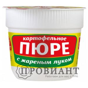 Пюре быстрого приготовления Русский аппетит в стаканчике с жареным луком 37г