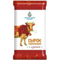 Сырок творожный Чебаркульское молоко с изюмом 15% 100г БЗМЖ