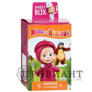 Жевательный мармелад Sweet Box Маша и Медведь с игрушкой