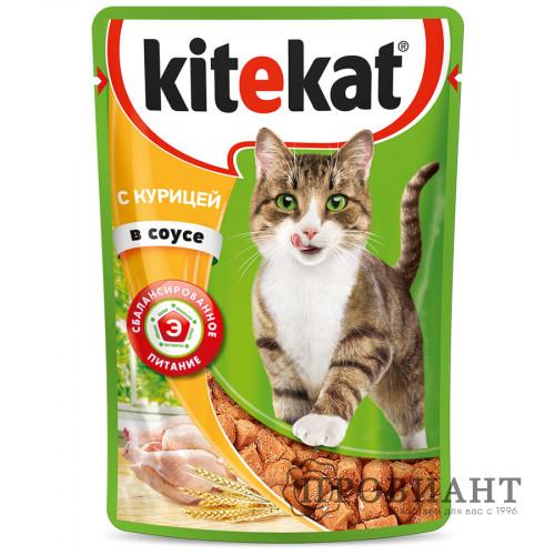 Корм для кошек Kitekat курица в соусе 85г