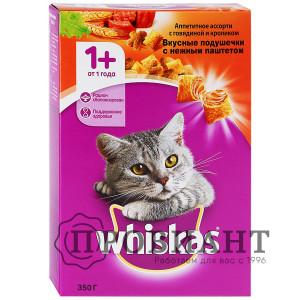 Корм Whiskas для кошек подушечки говядина/кролик 350г