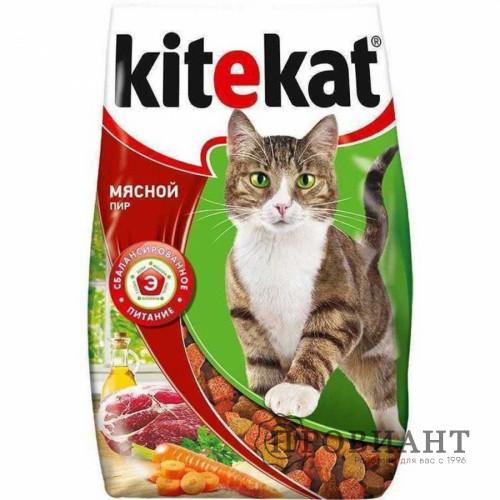 Корм для кошек сухой Kitekat мяcной пир 800г
