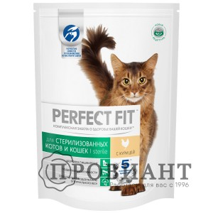 Корм Perfect Fit Sterile для стерилизованных котов и кошек с курицей190г