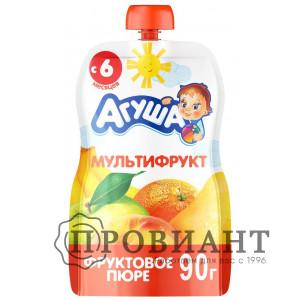 Пюре Агуша мультифрукт 90г