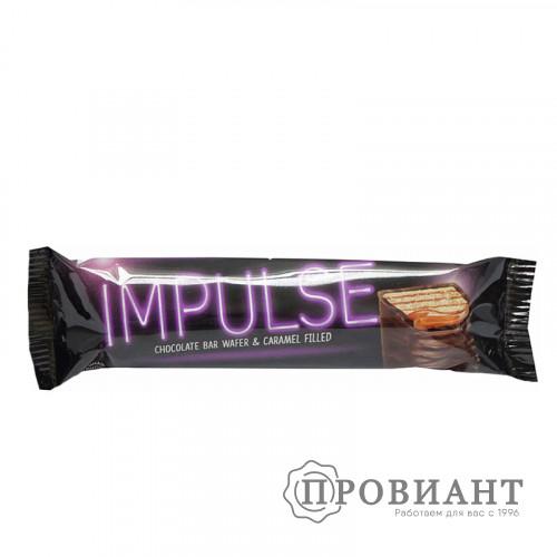 Батончик шоколадный Impulse молочный с карамелью 16г